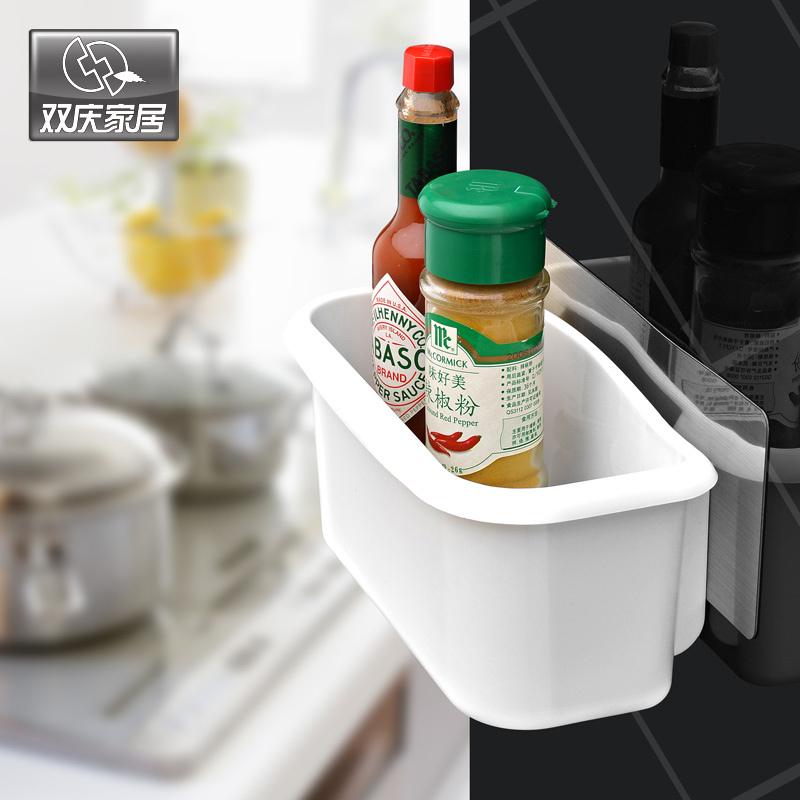 Traceless Suction Cup Bathroom Shelf Storage Rack Kitchen Sundries Rack Traceless Sticker Sucker Storage Basket 5031(China (Mainland))