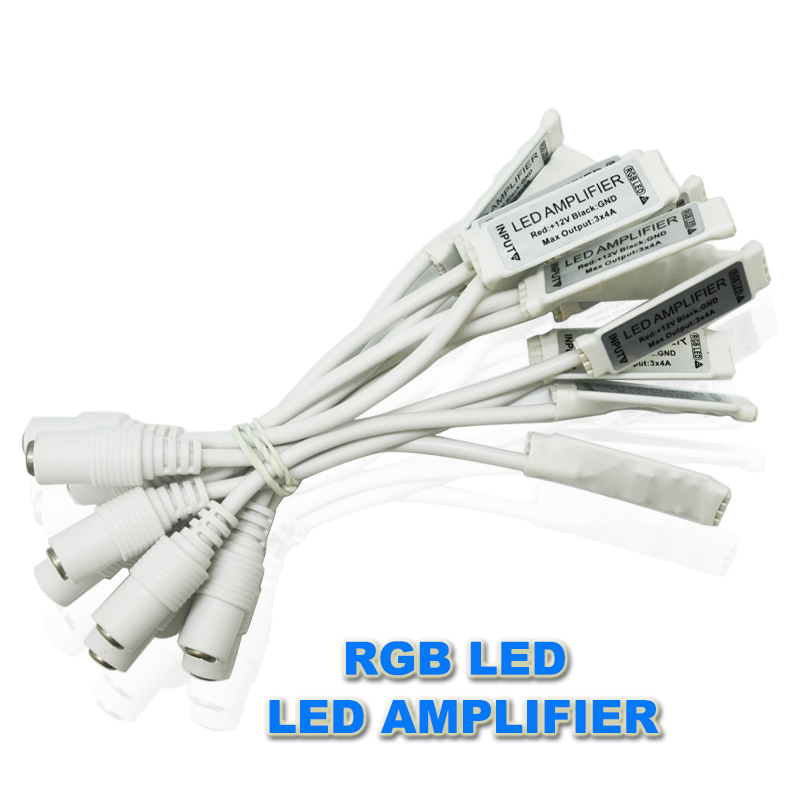 20pcs/lot dc 12v 6A 3 channel mini rgb led signal amplifier controller with female dc connector for led rgb strip smd 3528 5050(China (Mainland))