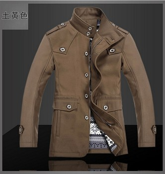 Free shipping!!!Hot sale In winter coat stand collar cultivate one's morality men's single breasted fur coat/S-2XL