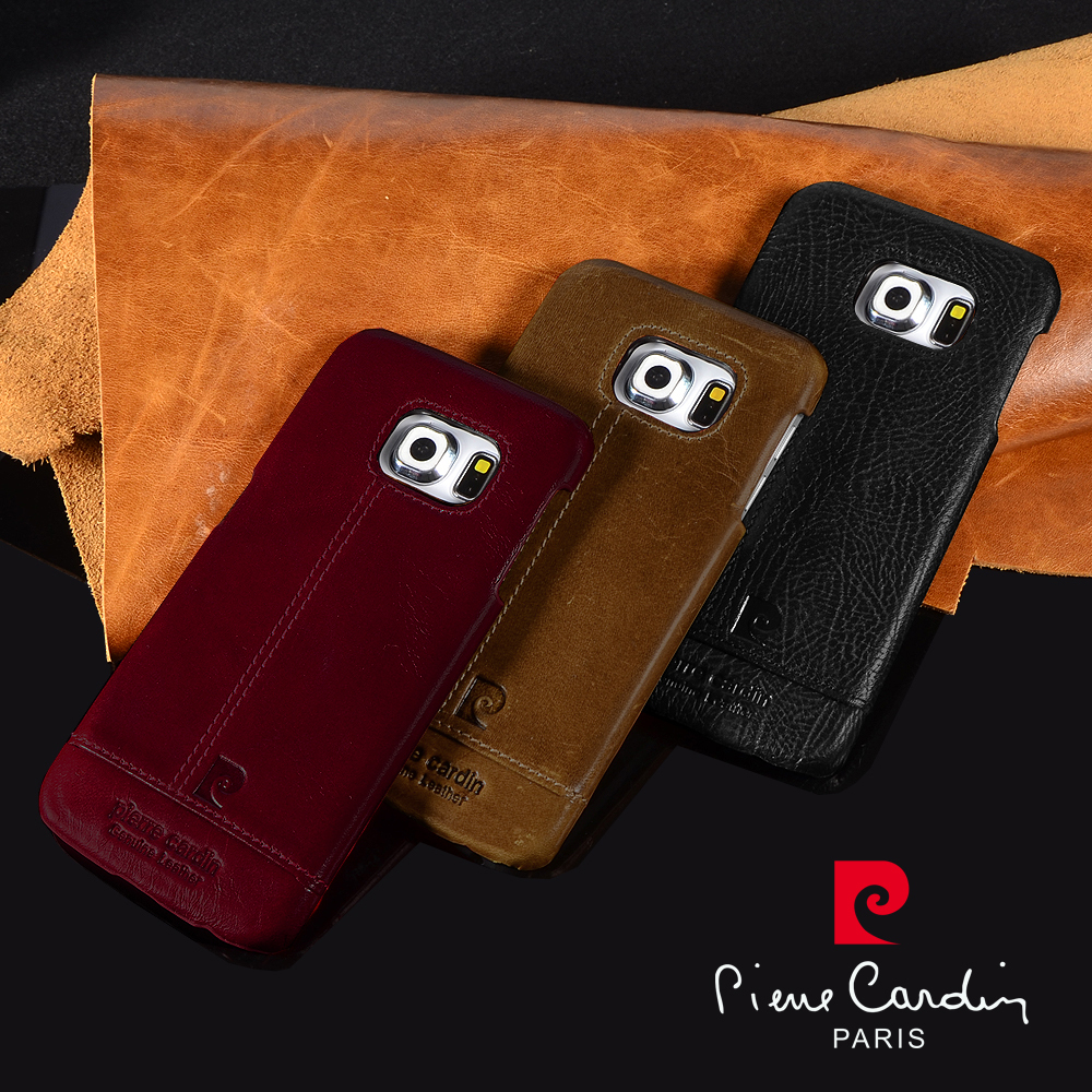 Genuine Leather Case Hard Back Cover Samsung Galaxy S6 Edge Brand New 3 color - Yimao Trade cellphone accessories store