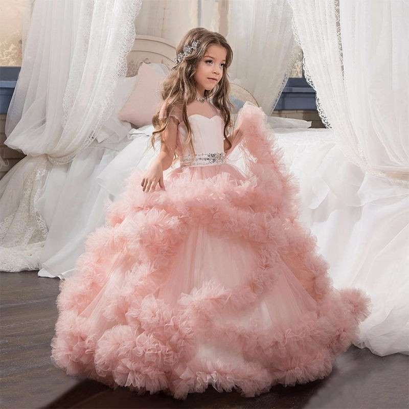 Online Get Cheap Puffy Pink Dresses with Sleeves for Girls ...