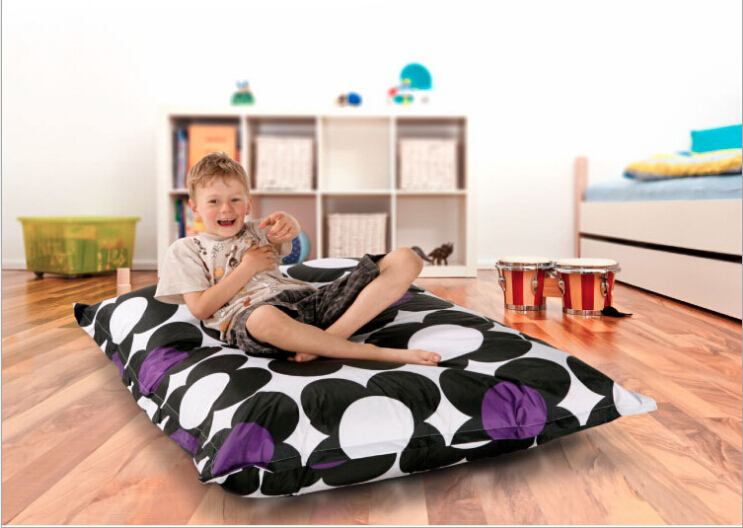 size 130 100 cm kids bean bag cover sofa relax chairs single seat. Black Bedroom Furniture Sets. Home Design Ideas
