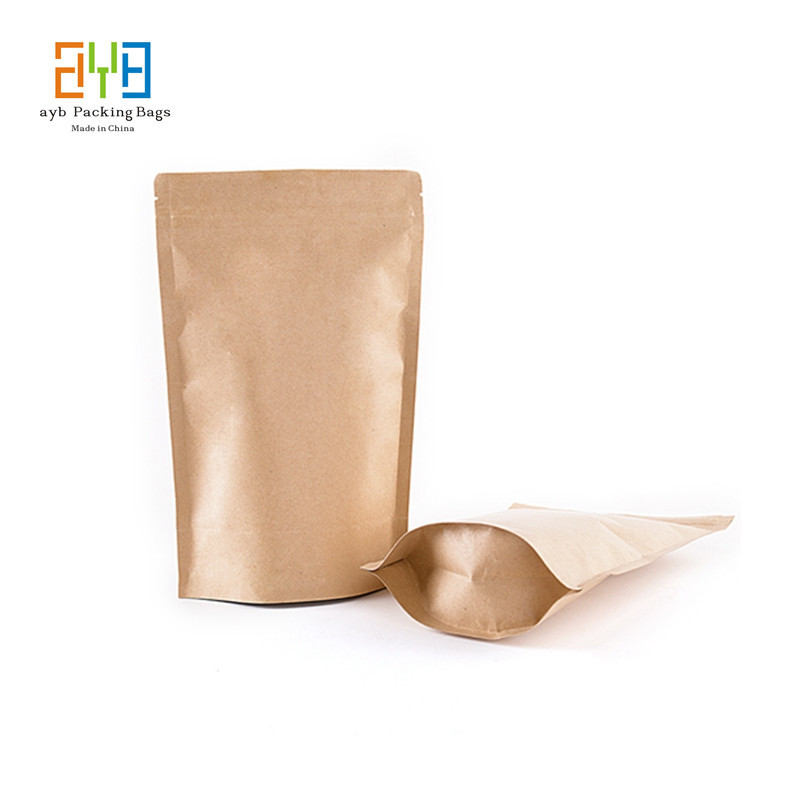 9*14cm+3cm Resealable Brown Kraft Paper Bags for Tea Gift Bags Packaging Custom Logo Bags bolsas de papel(China (Mainland))