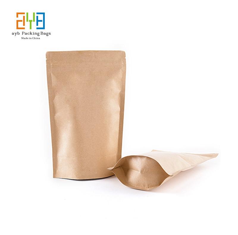 9*14cm+3cm Resealable Brown Kraft Paper Bags for Tea Gift Bags Packaging Custom Logo Bags bolsas de papel(China (Mainland))
