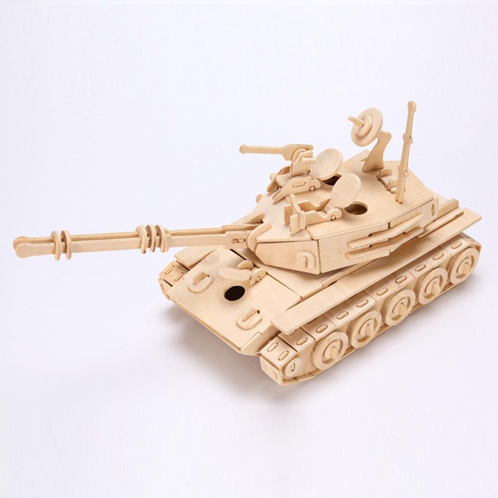 new favourable imaginative 3d wooden puzzle tank model toy. Black Bedroom Furniture Sets. Home Design Ideas
