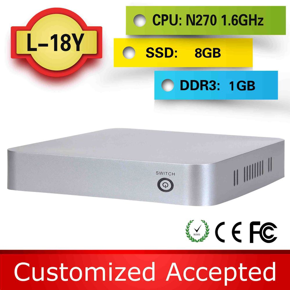 The cheapest xbmc tv box netbook laptop atom mini pc L-18Y N270 1g ram 8G SSD support Touchpad(China (Mainland))