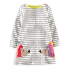 New autumn girls dresses stripe kids dress children casual long sleeve kids dress children dresses girls vestidos infantil(China (Mainland))