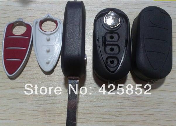 Top Quality Flip Key Shell For Alfa Remeo Mito,Giulietta,159,GTA Cover Remote Transmitter 3 Button Alfa Remote Key Blanks 3B(China (Mainland))
