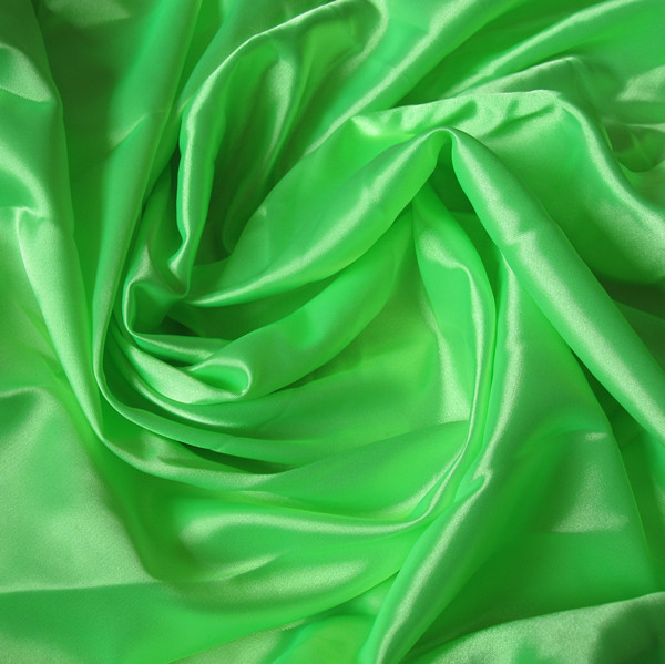 Faux silk green neon solid color lining fabric interlining water soluble lace lining fabric(China (Mainland))
