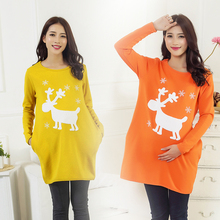 2015 long section Spring and Autumn Maternity pregnant women to go out big yards thick sweater fashion loose sweaters
