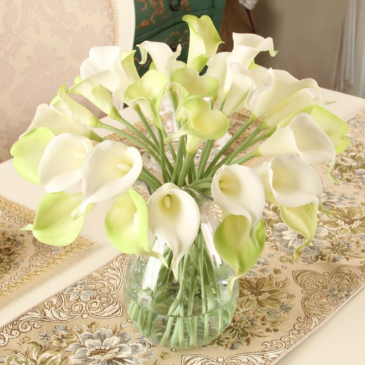 Scented silk flower decoration flower artificial flower artificial calla lily bountyless quality calla(China (Mainland))