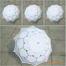 Freies Verschiffen Spitze Manual Eröffnung Hochzeit Regenschirm Braut Sonnenschirm Sonnenschirm Zubehör Für Hochzeit Braut Dusche Regenschirm(China (Mainland))
