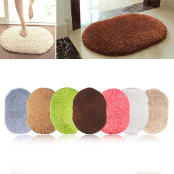 NEW 2016 Design Hot Sale New 360 Rotatable of Super Magic Slip-Resistant Pad Room Oval Carpet Floor mats 40*60CM Free Shipping