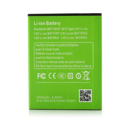 In stock original battery 2500mAh for MIZO I9 Plus MTK6592 octa core 5.5inch android 4.4 cell phone-free shipping(China (Mainland))