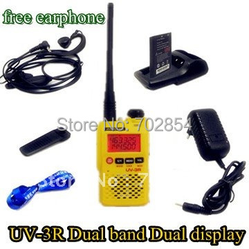 walkie talkie BAOFENG 3R II UV-3R II walkie talkie baofeng 3r 2 136 174 400 470 usb uv 3r