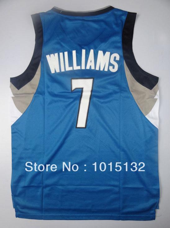 Derrick Williams Basketball Jersey Minnesota #7 Rev30 New Material Blue Sports Jersey Uniforms Free Shipping(China (Mainland))