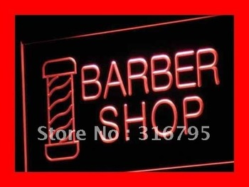 i005-r OPEN NEW Barber Shop Hair Cut LED Neon Light Signs