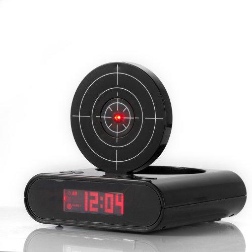 SZS Hot Black pistol shooting with infrared alarm clock(China (Mainland))