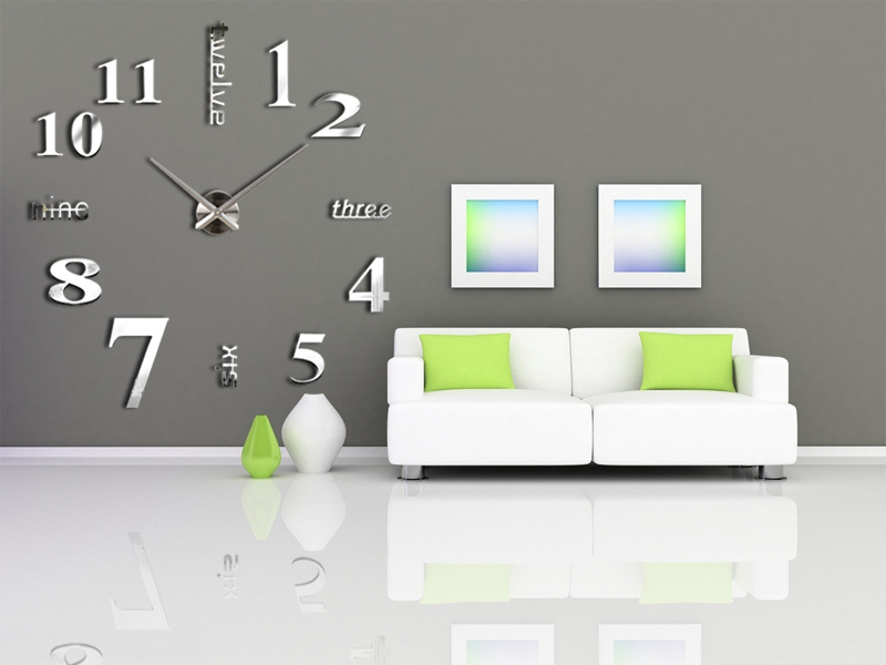 2014 3D diy creative wall sticker decor clock big home decoration hours single safe watch unique gift - YIWU E-MOON E-COMMERCE FIRM store