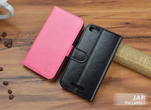 Retro Book Style PU Leather Case Wiko Lenny 2 Cover Luxury Flip Wallet Design Card Slot JR Brand - QB store