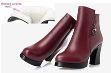 Aiyuqi Da Thật Chính Hãng Da Giày Nữ Giày Nữ Plus Kích Thước 43 Mũi Tròn Gót Vuông Thời Trang Nữ Mắt Cá Chân Giày(China)