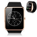 2016 New Wearable Devices reloj inteligente GT08 Smart Watch Android Support SIM Card Smartwatch for Android