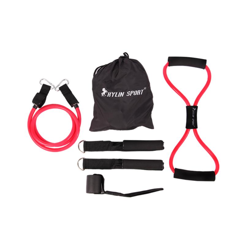 6pcs women resistance bands elastic exercise set fitness tube yoga workout pilates for wholesale and free shippingrising sport(China (Mainland))
