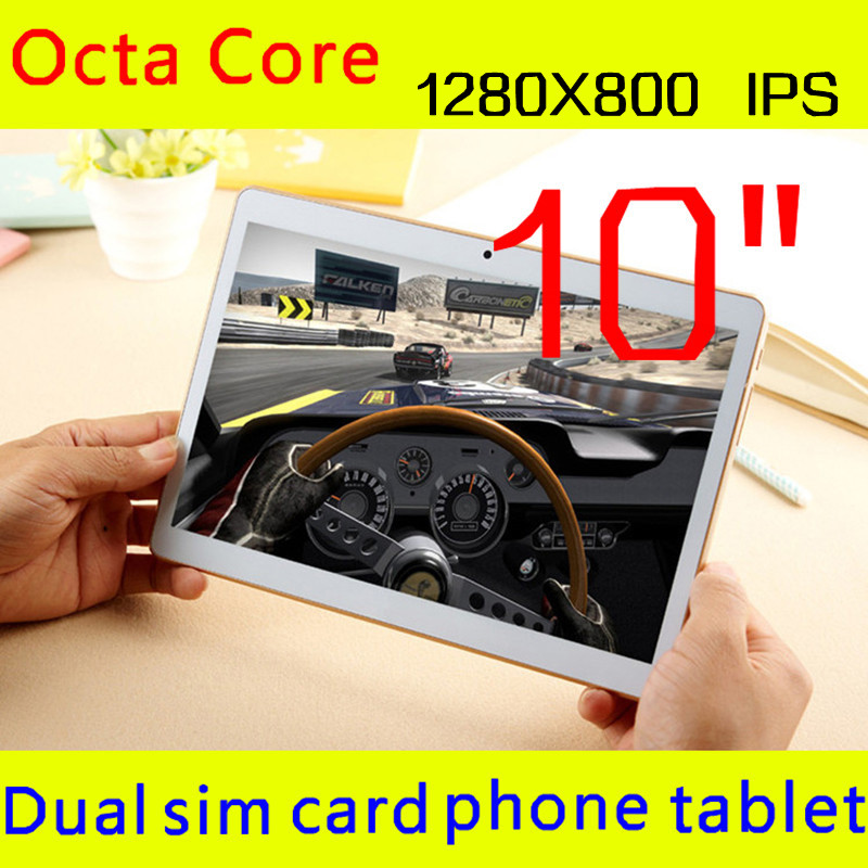 10 inch tablet 1280X800 IPS octa core ram 4GB ROM 32GB 5.0mp 3 G android5.1 Tablet PC card phone call mtk6592 dual sim GPS 10(China (Mainland))