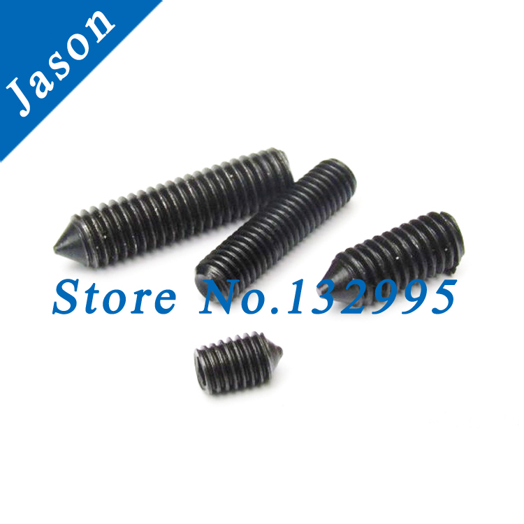 M6*12  Alloy steel Grade 12.9 DIN914 Hex Socket Set Screw With Cone Point Grade 12.9 DIN914  M6*L<br><br>Aliexpress