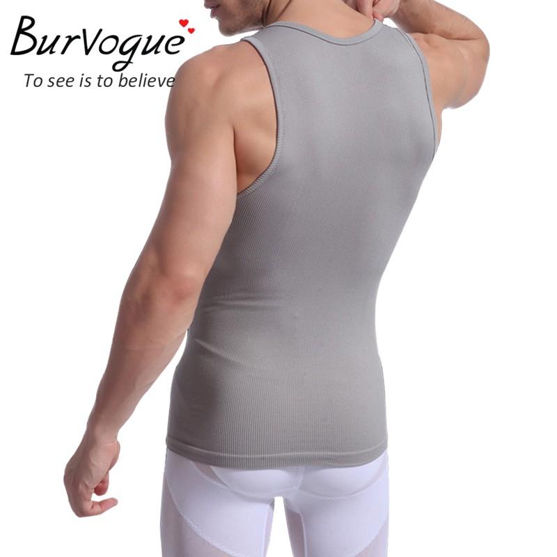 Burvogue мужчины формирователь жилет для похудения профилировщик тела талии cдюймer пластика управления ремень живота спорт shaperwear майка