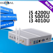 Eglobal Intel Core i5 4200U, i3 5005U, i3 4010U in Mini PC Windows10 Nuc Computer 4K HTPC TV Box  300M WIFI DHL Free Shipping(China (Mainland))