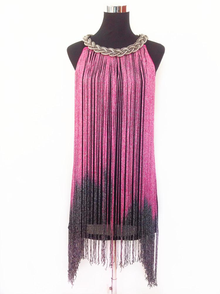 Бахрома стеклярус на платье 37