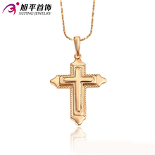 Xuping Pendant High Quality Charm Cross Pendant Men Women18K Gold Color Necklace Chain Accessories Jewelry Top Sale Gift 32128(China (Mainland))