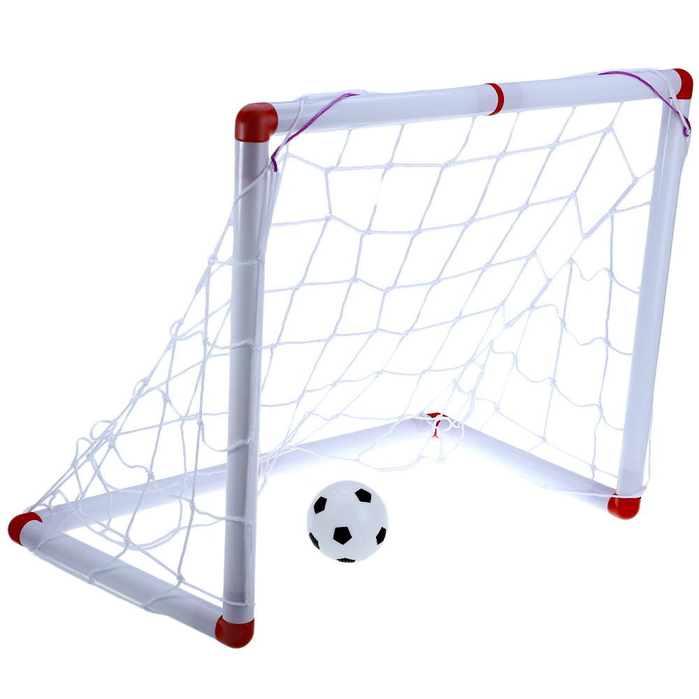 Safe Portable Mini Self-assembly Football Soccer Voetbal Goal Post Net Ball Futbol Pump Indoor Outdooor Child Children Kids Toy(China (Mainland))