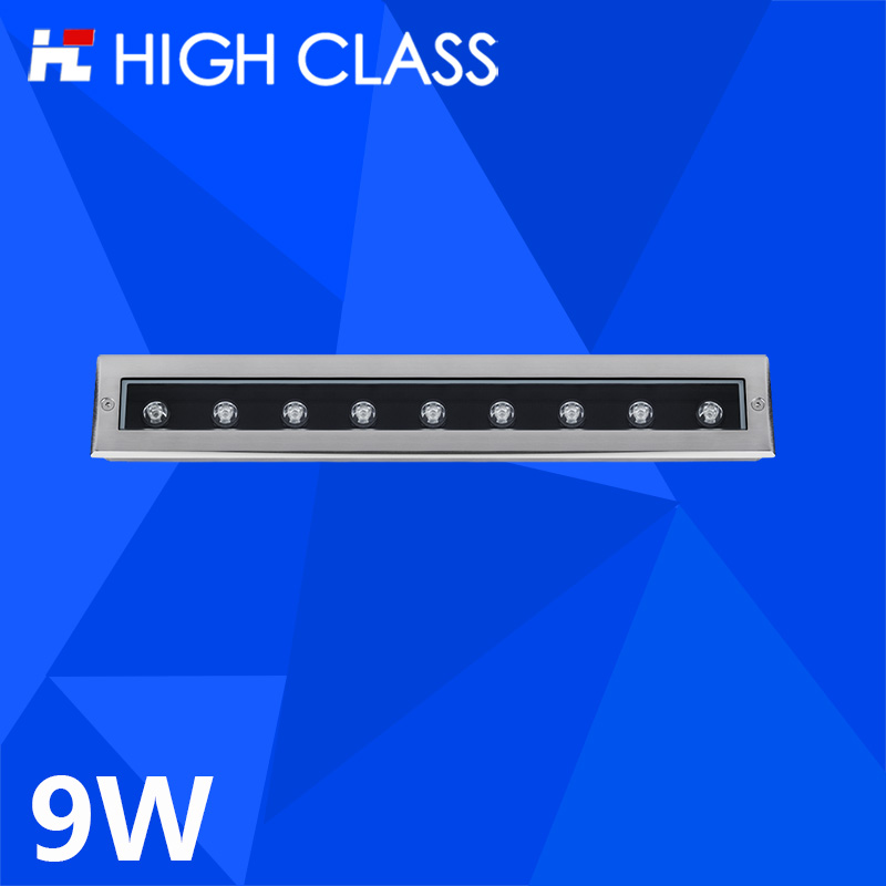 Фотография High Class Good Quality IP67 Waterproof Dustproof 9W Strip Type LED Underground Light for Garden Park Square Pathway Lighting