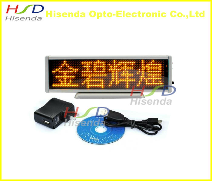 Programmable LED Scrolling Message Display Moving Sign Board Yellow Rechargeable mini led display board panel advertising(China (Mainland))
