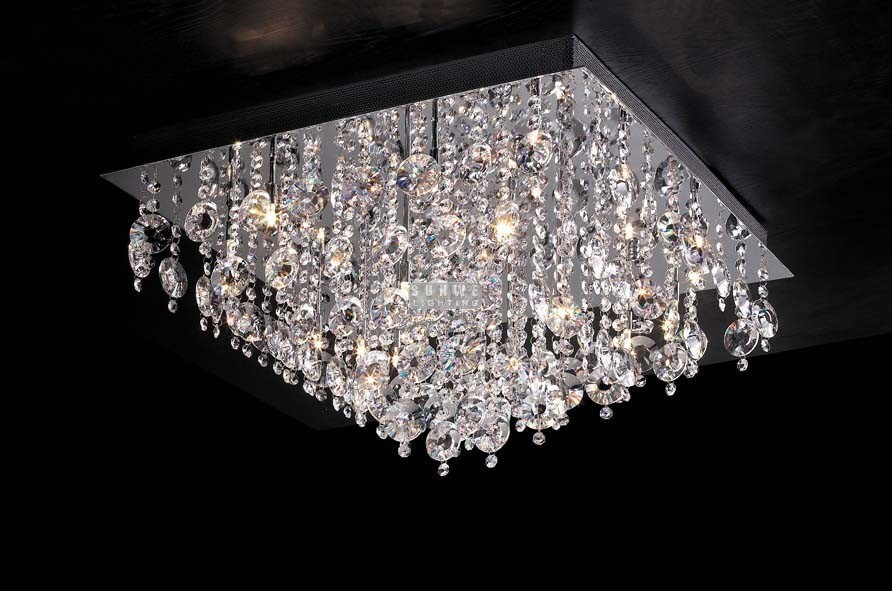 Aliexpress Com Buy Square Lights Crystal Chandeliers