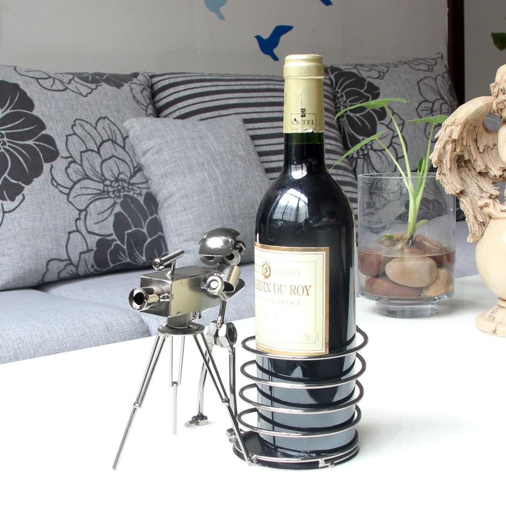 Compra barra de hierro forjado del vino online al por for Lopez del hierro decoracion