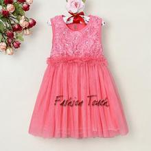 2015 New Style Baby Girl Dress Kinds Sleeveless Summer Dresss Hot Printed Flower Girl Party Dress GD30226-03^^FT(China (Mainland))