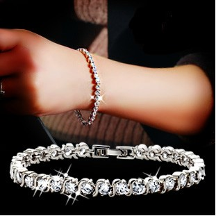 free shipping Bracelet female crystal zircon bracelet female fashion lovers zircon bracelet birthday gift