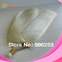 """Sunnymay 8-30"""" #613 Blonde 1g Indian Virgin Hair I Tip Straight Pre-Bonded Stick Tip Hair Extensions For White Women"""