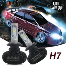 Buy CO LIGHT 1 Set Car LED Headlight Bulb Seoul CSP Chips 50W 4000lm 6500K H7 Led Headlamp DRL Fog Light Audi/BMW/Ford/Toyota for $28.99 in AliExpress store