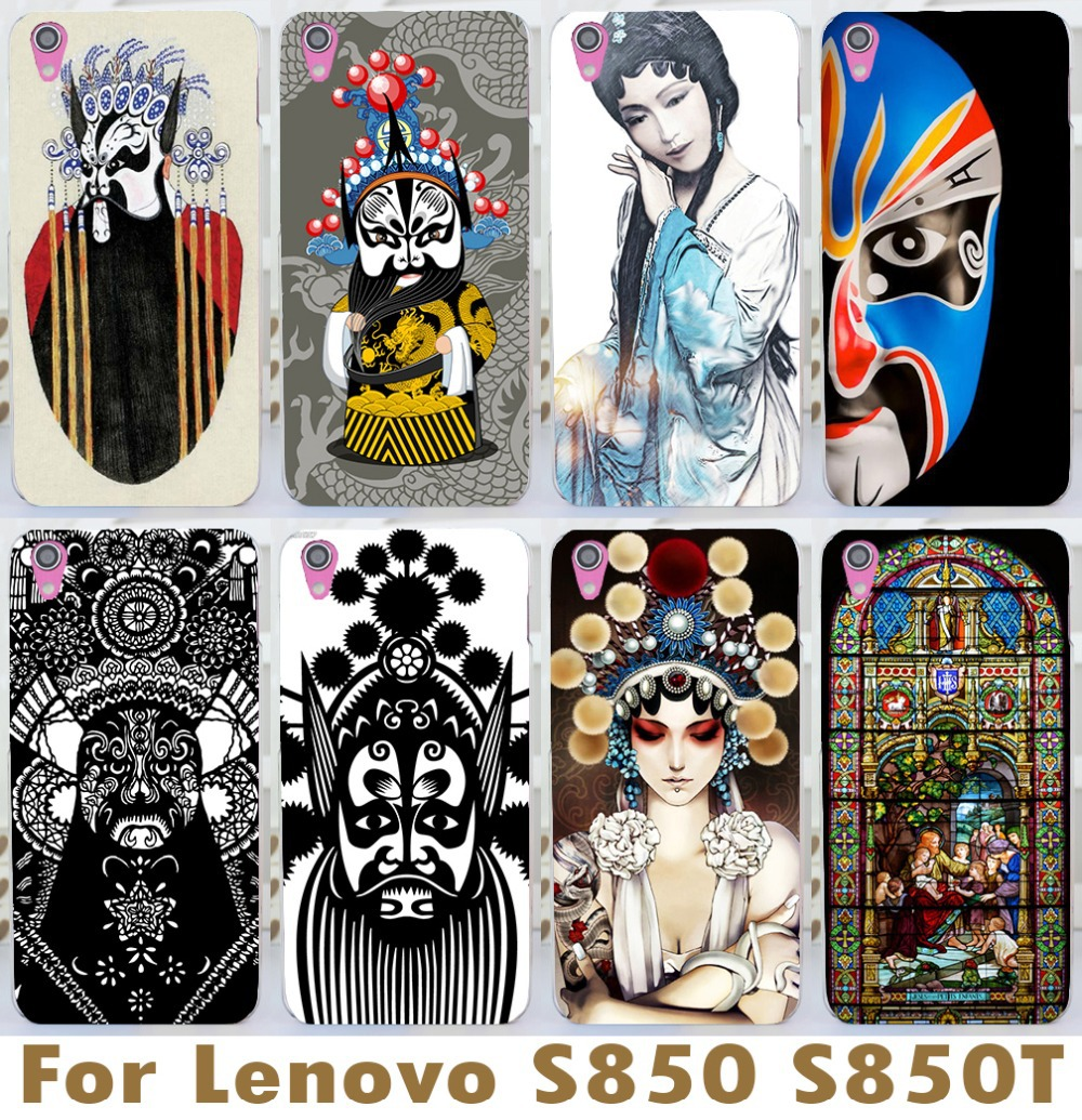 Mobile Phone Cases Freeshipping For Lenovo S850 S850t Chinese Style Elegant Peking Opera Huadan Facebook Cool Hard Case(China (Mainland))