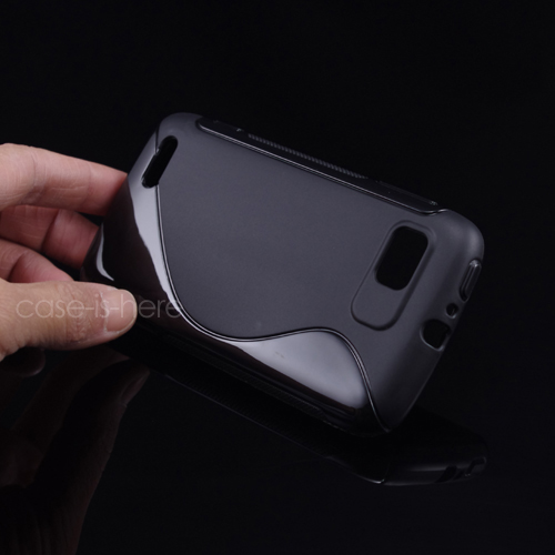 Soft S-Line Wave Anti-skid TPU Gel Cover Case Skin for Motorola Atrix 2 II MB865(China (Mainland))