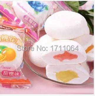 Гаджет  500g Stuffed Marshmallow, Different Tastes Cotton Candy, Snack Sweet, Chinese Food None Еда