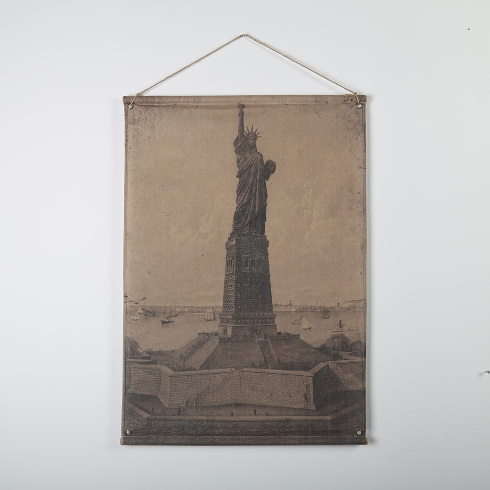 New York Wooden Canvas Painting On Linen Wall Art Statue of Liberty Pictures for Bedroom Living Room Decoration Unframed(China (Mainland))