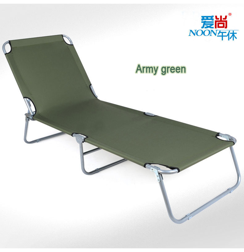 Oxford cloth canvas single folding bed chair folding chair office nap bed simple camp bed seventy percent off(China (Mainland))