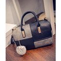 Soft PU Leather Women s Handbag Ladies Shoulder Tote Bag Women Messenger Bag Zipper ball tassels