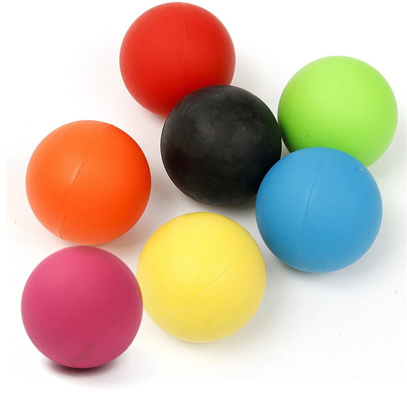 Hot Sale Rubber 6cm Massage Ball Tool Mobility Trigger Point Body Massager Arm Back Leg Muscle Pain Relief Health Care 7 Colors(China (Mainland))