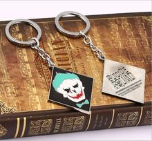 ZIDOM Suicide Squad Keychain Joker Key Rings Holder For Gift Chaveiro Exquisite Car Key Chain Jewelry Movie Souvenir(China (Mainland))